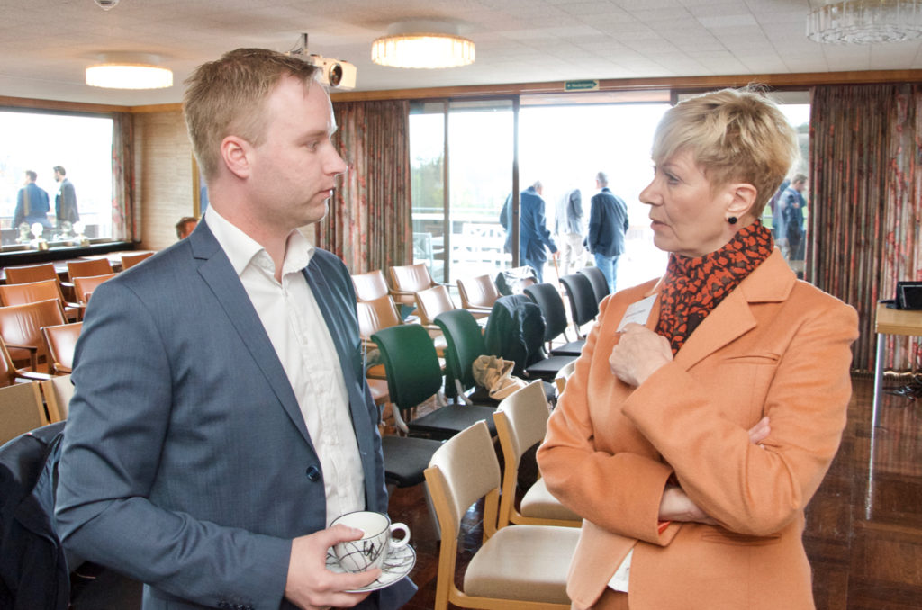 Christoffer Jørgenvåg, CEO at Red Rock and Anne-Grete Ellingsen, CEO at GCE NODE gave presentations at the Autonomous Ships Seminar in Grimstad Monday.