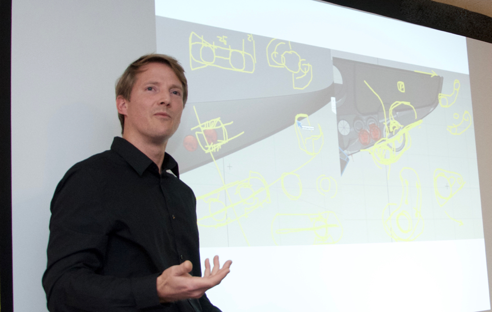 Industrial Designer Andreas Ravn at Norsap presented the ideas behind the award-winning chair X-COM.