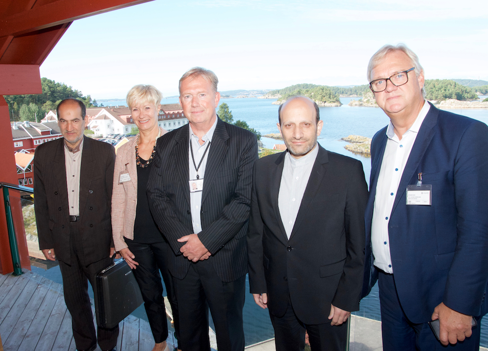 Left-right: Alireza Ghasemi (Iranian Embassy in Norway), Anne-Grete Ellingsen (CEO at GCE NODE), Sjur Henning Hollekim (MHWirth), Majid Nili (Iranian Ambassador to Norway) and Ole Johan Sandvær (Innovation Norway) met at the Iranian Network's meeting at MHWirth in Kristiansand Tuesday.