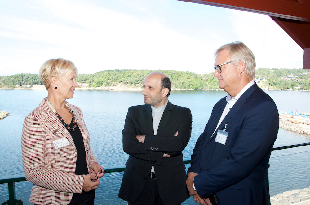 Anne-Grete Ellingsen (CEO at GCE NODE), Majid Nili (Iranian Ambassador to Norway) and Ole Johan Sandvær (Innovation Norway) met at the Iranian Network's meeting at MHWirth in Kristiansand Tuesday.