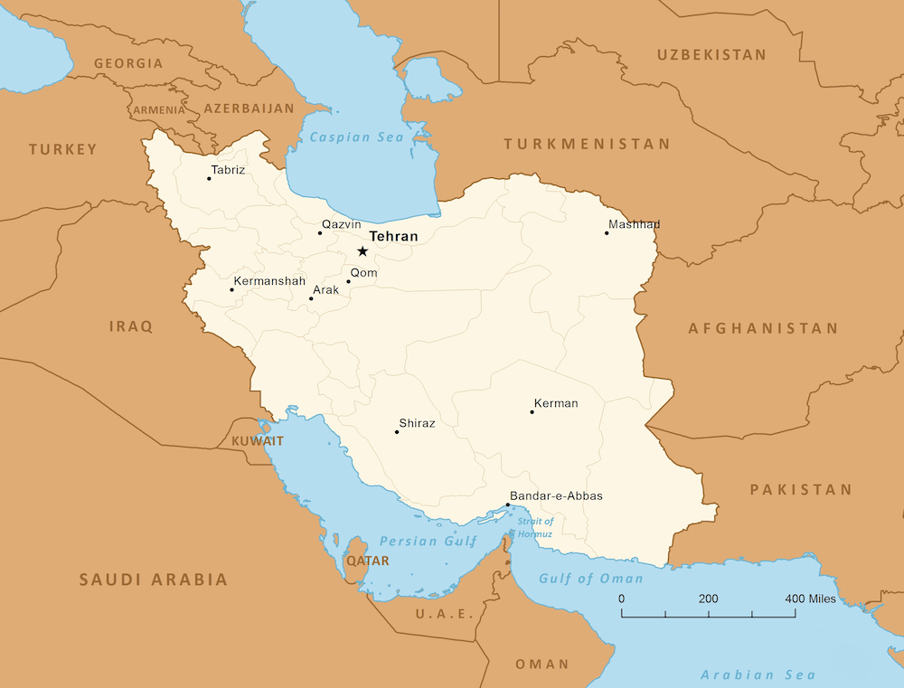 Iran is the 18th largest country in the world (area) with more than 82 million inhabitants.