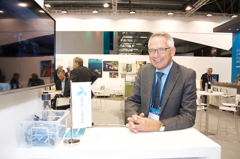 Telenor Maritime at ONS 2016: Head of Offshore Tom Løwehr.