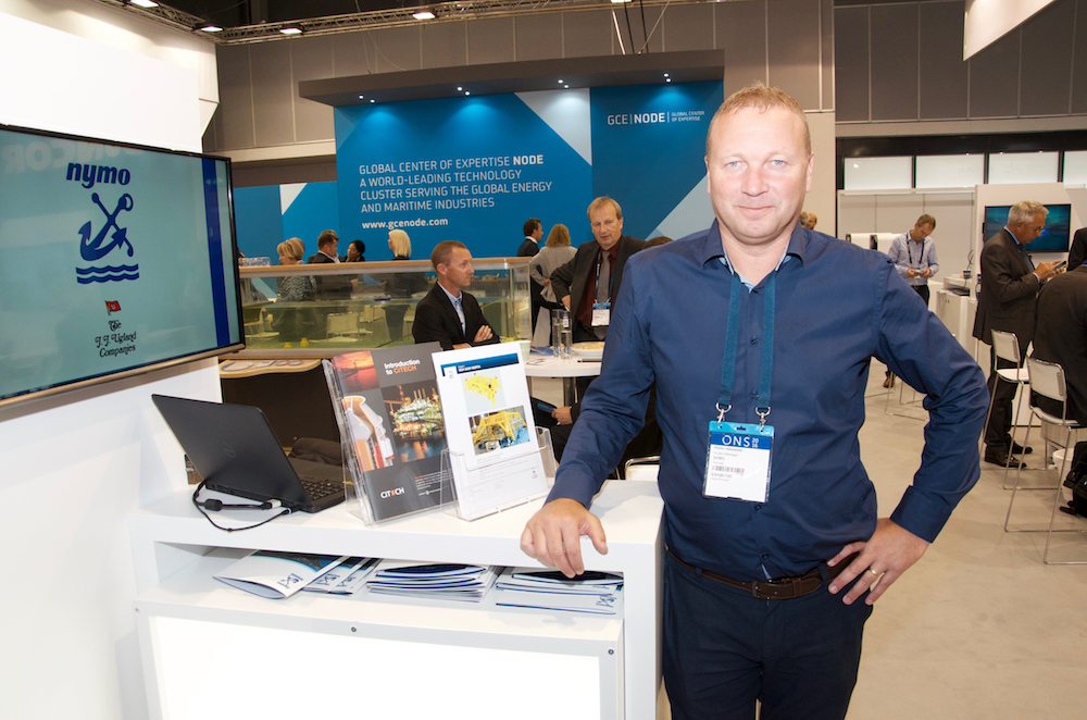 At GCE NODE' stand: Nymo: Project Manager Peder Håbestad