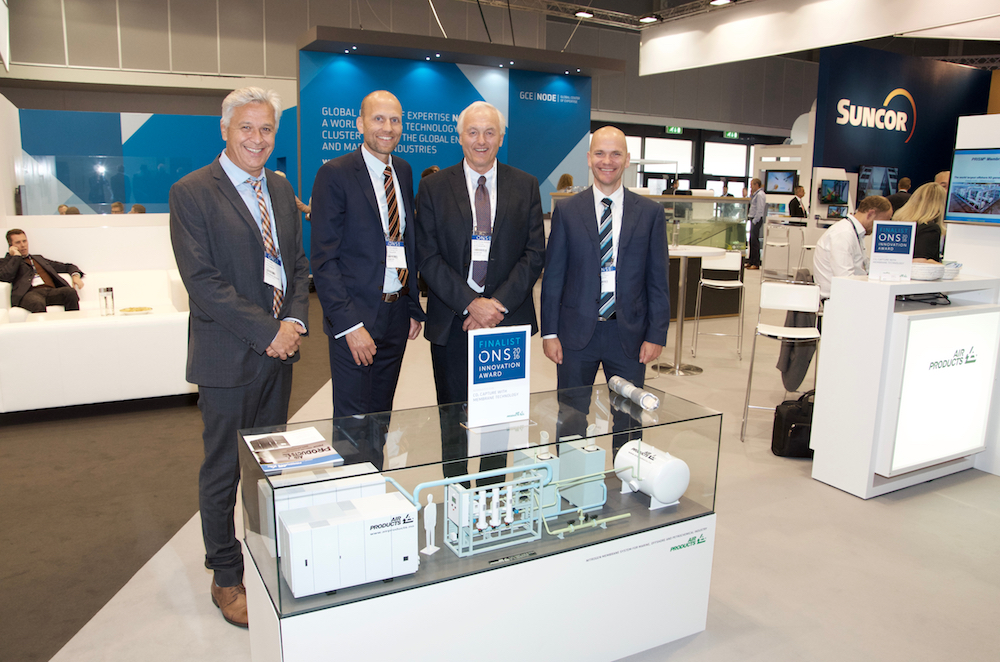 Air Products at ONS 2016 (left-right): CEO Tom Cantero, Product Manager Geir Arne Johansen, Process Manager Svein Gunnar Nodeland and Sales Manager Offshore Tommy Hansen.