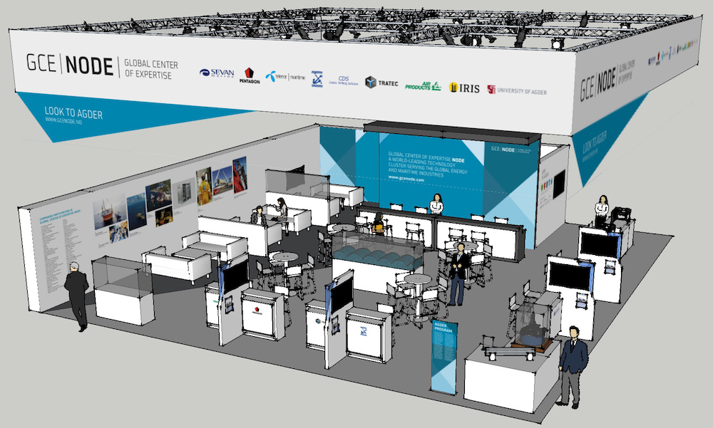 3D image of GCE NODE stand at ONS 2016.