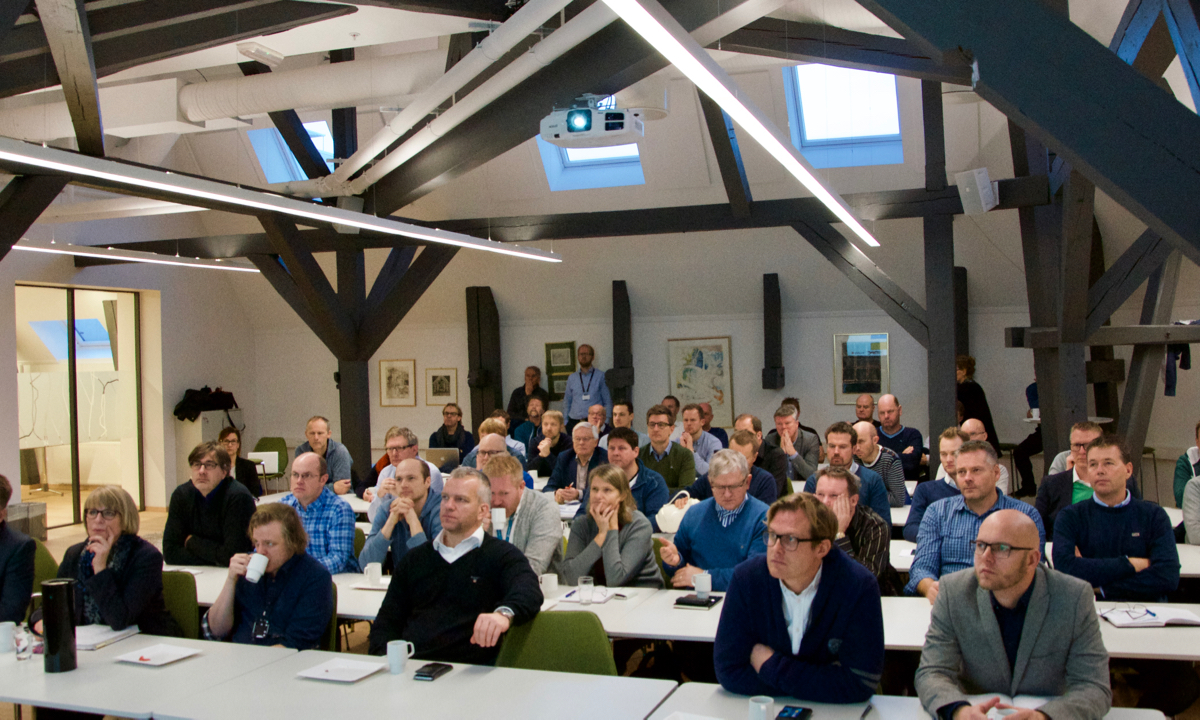 Close to 60 people attended the OPC UA course in Kristiansand December 1st.