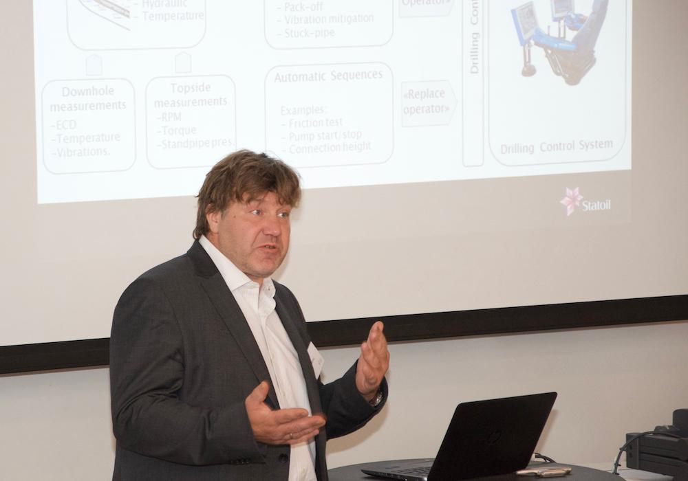 Bjørn Rudshaug, Strategic Project Manager Automatic Drilling Control at Statoil.