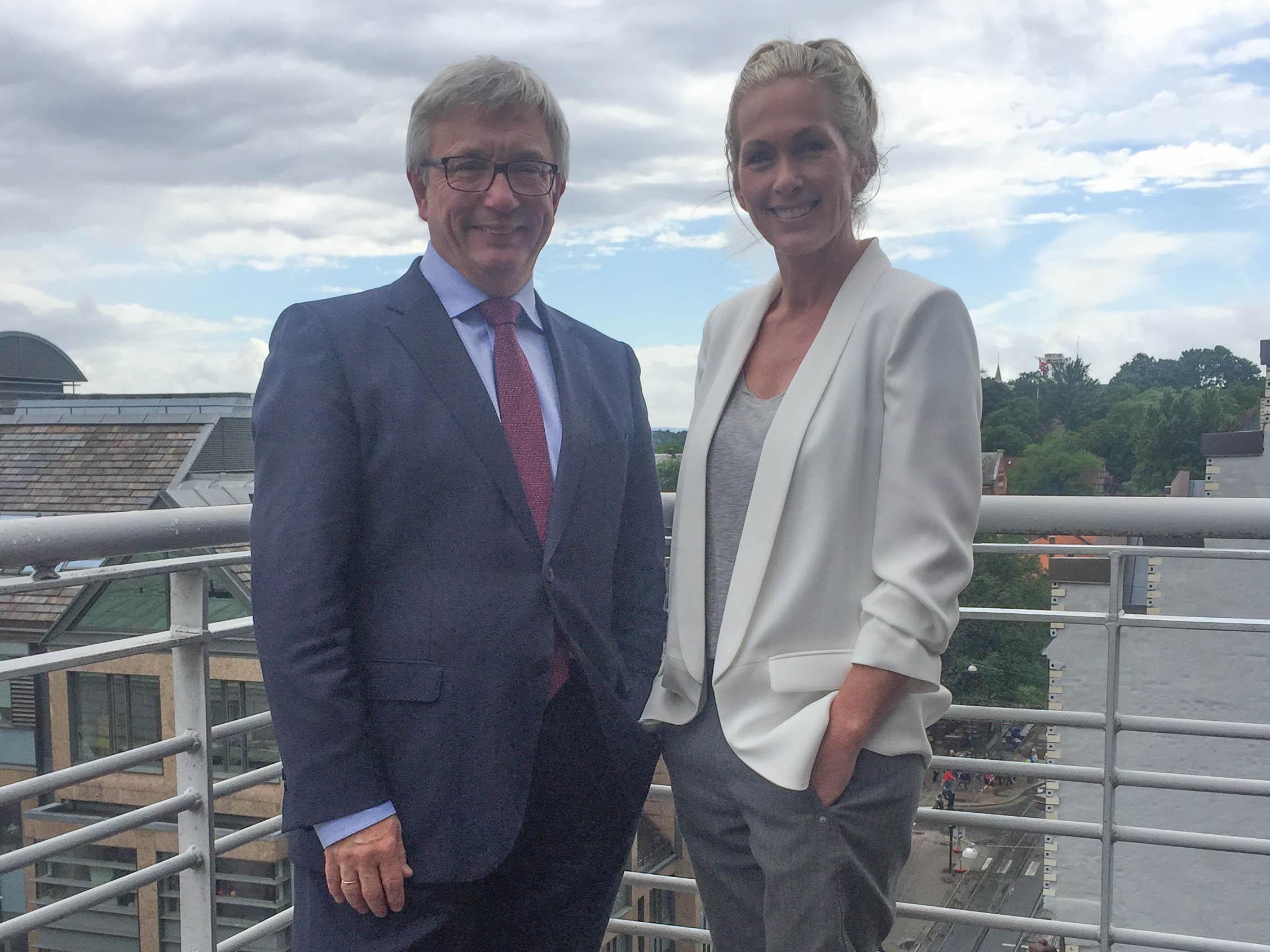 Karl Eirik Schjøtt-Pedersen and Anita Krohn Traaseth. Photo: Norwegian Oil and Gas Association
