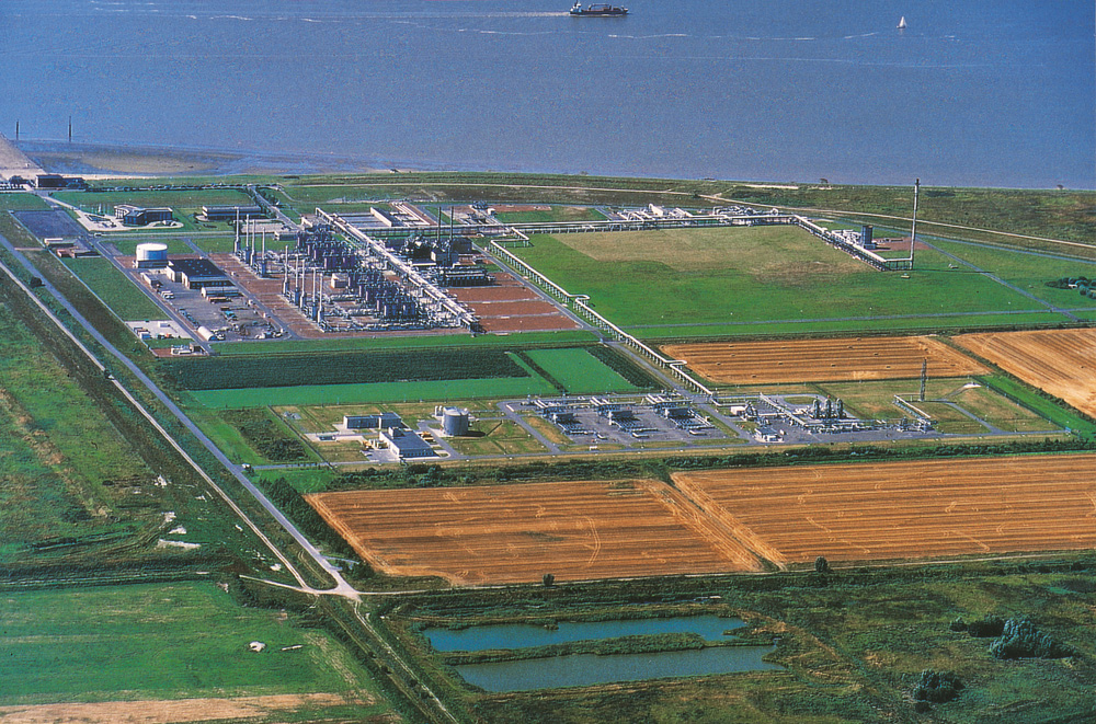 In Emden, Germany, lies one of the facilities receiving Norwegian gas. The deliveries through the gas pipeline Norpipe started in 1977.  Photo: Gassco