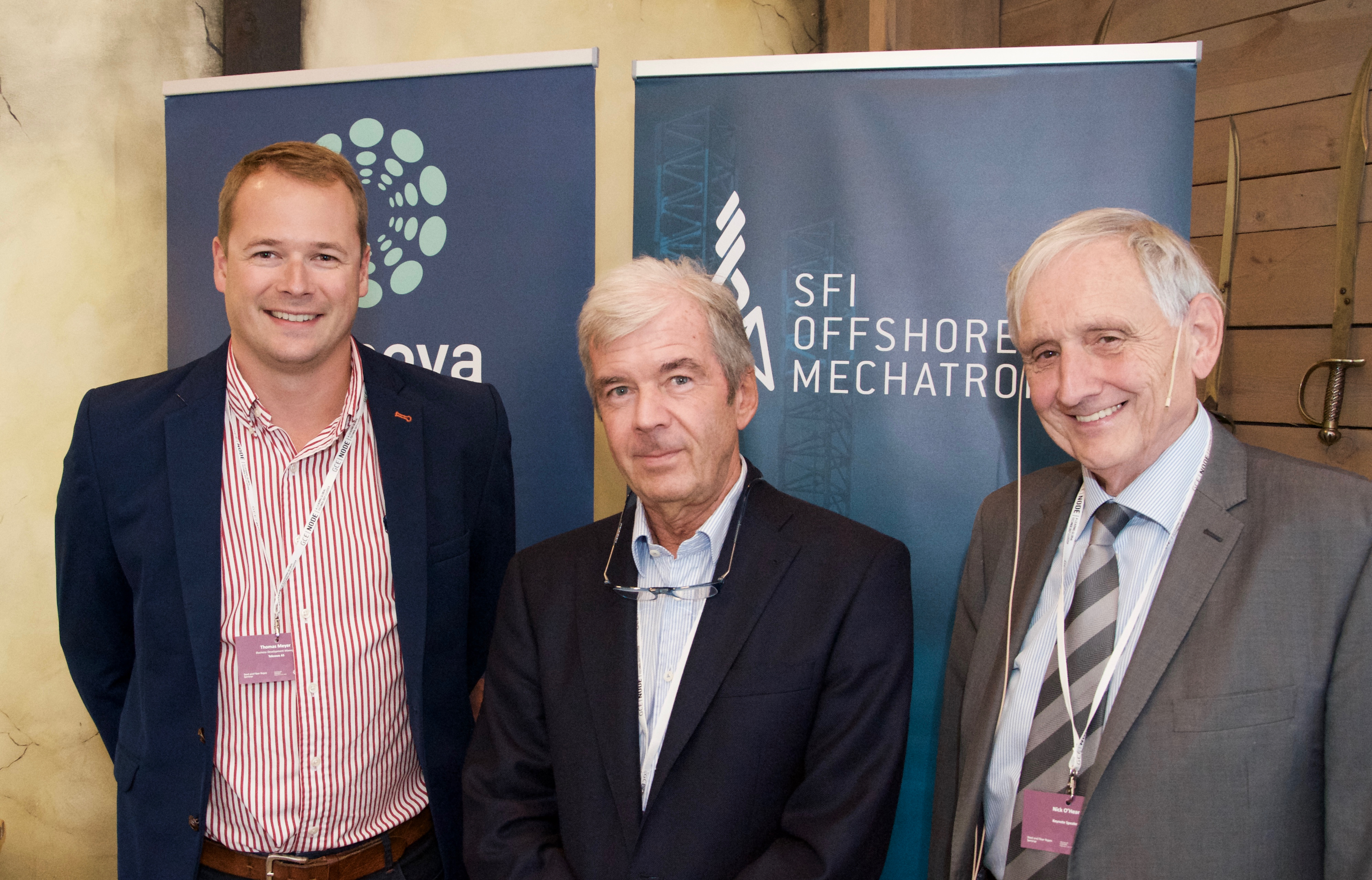 "Left-right: Business Development Manager Thomas Meyer at Teknova, ""Rope Pope"" Roland Verreet and British expert Nick O'Hear."